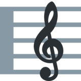 Musical Score on Twitter Twemoji 2.1