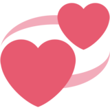 Revolving Hearts on Twitter Twemoji 2.1