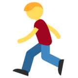 Person Running on Twitter Twemoji 2.1