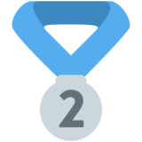 2nd Place Medal on Twitter Twemoji 2.1