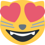 Smiling Cat with Heart-Eyes on Twitter Twemoji 2.1