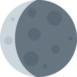 Waning Crescent Moon on Twitter Twemoji 2.1