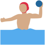 Person Playing Water Polo: Medium Skin Tone on Twitter Twemoji 2.1
