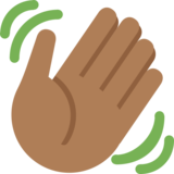 Waving Hand: Medium-Dark Skin Tone on Twitter Twemoji 2.1