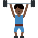 Person Lifting Weights: Dark Skin Tone on Twitter Twemoji 2.1