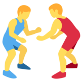 People Wrestling on Twitter Twemoji 2.1