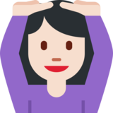 Person Gesturing OK: Light Skin Tone on Twitter Twemoji 2.1.2