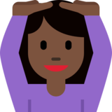Person Gesturing OK: Dark Skin Tone on Twitter Twemoji 2.1.2