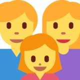 Family: Man, Woman, Girl on Twitter Twemoji 2.1.2