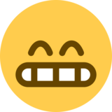 Beaming Face With Smiling Eyes on Twitter Twemoji 2.1.2
