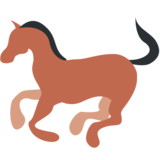 Horse on Twitter Twemoji 2.1.2