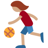 Person Bouncing Ball: Medium Skin Tone on Twitter Twemoji 2.1.2