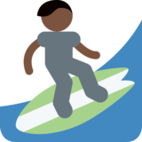 Person Surfing: Dark Skin Tone on Twitter Twemoji 2.1.2