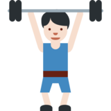 Person Lifting Weights: Light Skin Tone on Twitter Twemoji 2.1.2