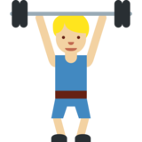 Person Lifting Weights: Medium-Light Skin Tone on Twitter Twemoji 2.1.2