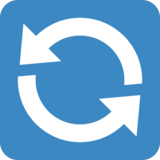 Counterclockwise Arrows Button on Twitter Twemoji 2.2