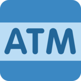 ATM Sign on Twitter Twemoji 2.2