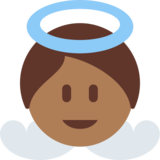 Baby Angel: Medium-Dark Skin Tone on Twitter Twemoji 2.2
