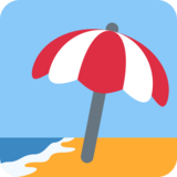 Beach with Umbrella on Twitter Twemoji 2.2