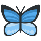 Butterfly on Twitter Twemoji 2.2