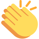 Clapping Hands on Twitter Twemoji 2.2
