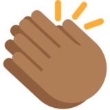 Clapping Hands: Medium-Dark Skin Tone on Twitter Twemoji 2.2