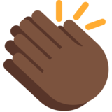 Clapping Hands: Dark Skin Tone on Twitter Twemoji 2.2