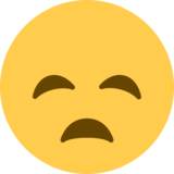 Disappointed Face on Twitter Twemoji 2.2