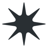Eight-Pointed Star on Twitter Twemoji 2.2