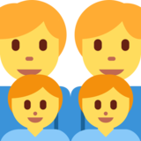 Family: Man, Man, Boy, Boy on Twitter Twemoji 2.2