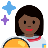 Woman Astronaut: Dark Skin Tone on Twitter Twemoji 2.2