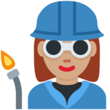 Woman Factory Worker: Medium Skin Tone on Twitter Twemoji 2.2
