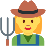 Woman Farmer on Twitter Twemoji 2.2