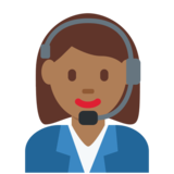 Woman Office Worker: Medium-Dark Skin Tone on Twitter Twemoji 2.2
