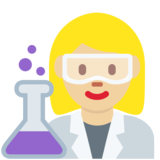 Woman Scientist: Medium-Light Skin Tone on Twitter Twemoji 2.2
