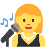 Woman Singer on Twitter Twemoji 2.2