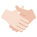 Handshake: Light Skin Tone on Twitter Twemoji 2.2