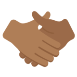 Handshake: Medium-Dark Skin Tone on Twitter Twemoji 2.2