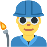 Man Factory Worker on Twitter Twemoji 2.2