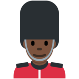 Man Guard: Dark Skin Tone on Twitter Twemoji 2.2