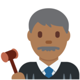 Man Judge: Medium-Dark Skin Tone on Twitter Twemoji 2.2