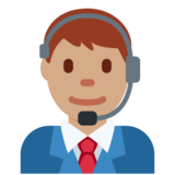 Man Office Worker: Medium Skin Tone on Twitter Twemoji 2.2