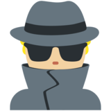 Man Detective: Medium-Light Skin Tone on Twitter Twemoji 2.2