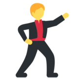 Man Dancing on Twitter Twemoji 2.2