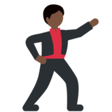 Man Dancing: Dark Skin Tone on Twitter Twemoji 2.2