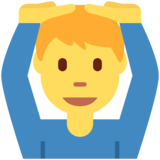 Man Gesturing OK on Twitter Twemoji 2.2