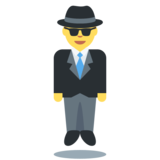 Person in Suit Levitating on Twitter Twemoji 2.2
