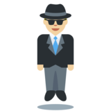 Man in Suit Levitating: Medium-Light Skin Tone on Twitter Twemoji 2.2