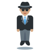 Person in Suit Levitating: Medium Skin Tone on Twitter Twemoji 2.2