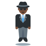 Person in Suit Levitating: Dark Skin Tone on Twitter Twemoji 2.2